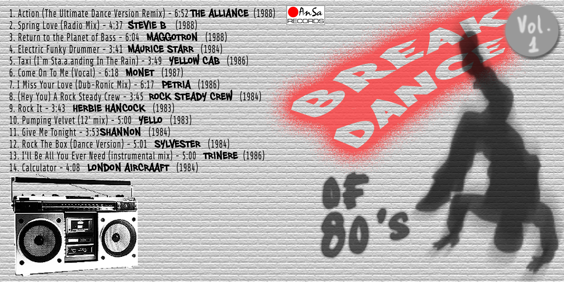 Break Dance Of 80's Vol.1