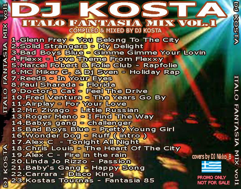 Dj Kosta - Italo Fantasia Mix Vol. 01
