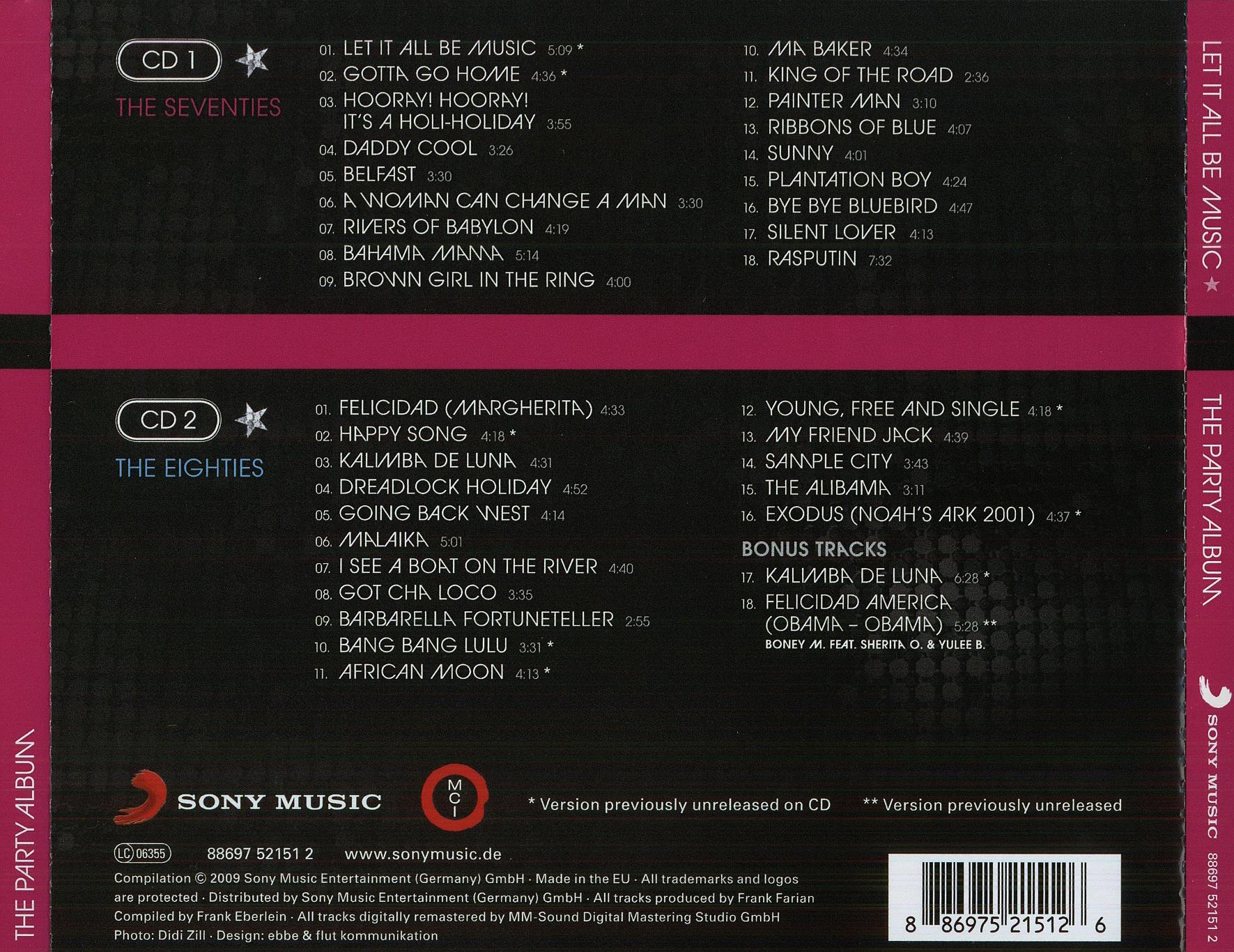 Boney M – Let It All Be Music – The Party Album